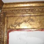 4' x 4' Gilded mirror frame close-up